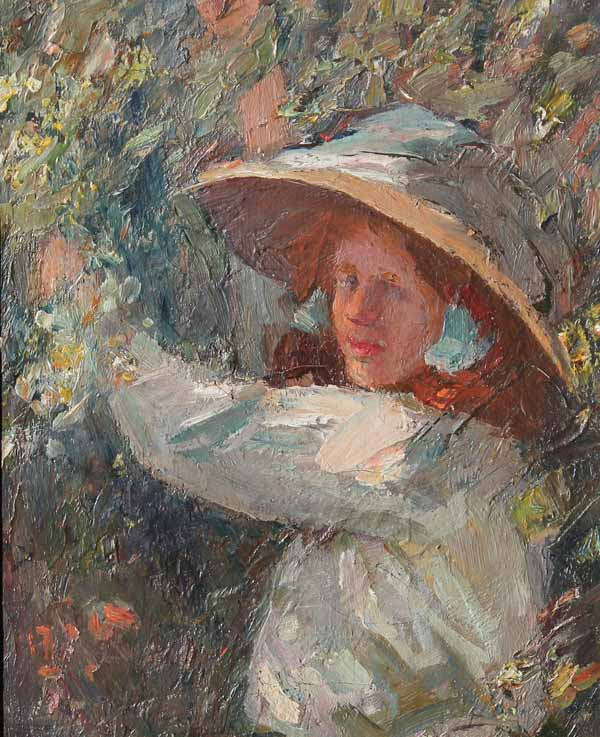 The Straw Hat by LAURA B. S. FIDLER née CLUNAS died 1936