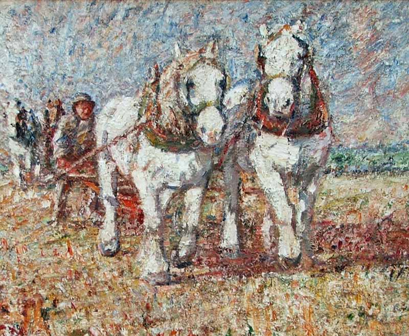 The First Furrow by HARRY FIDLER RBA ROI 1856-1935