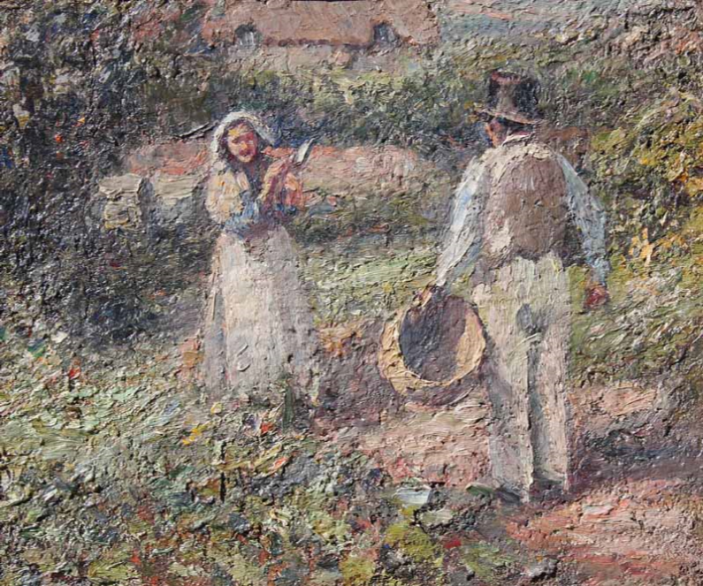 Farmer and his Wife by HARRY FIDLER RBA ROI 1856-1935