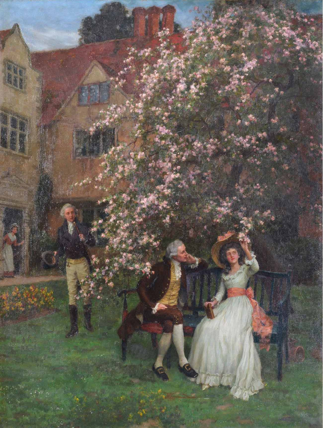 Under the Apple Blossom by CHARLES HAIGH-WOOD 1856-1927