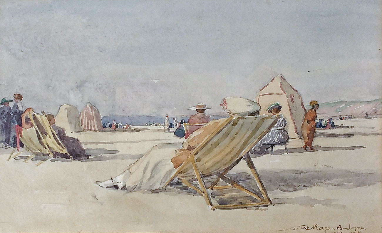 Boulogne Plage, 1917 by